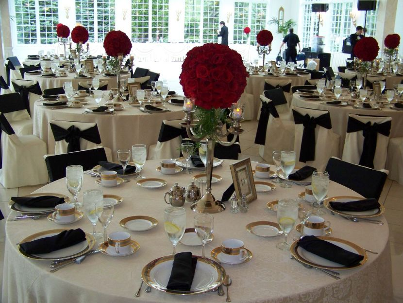 Gold Wedding Table; Black White Wedding Table Decorations Image Collections Wedding . & Black White And Gold Table Settings u0026 Black And White Table ...