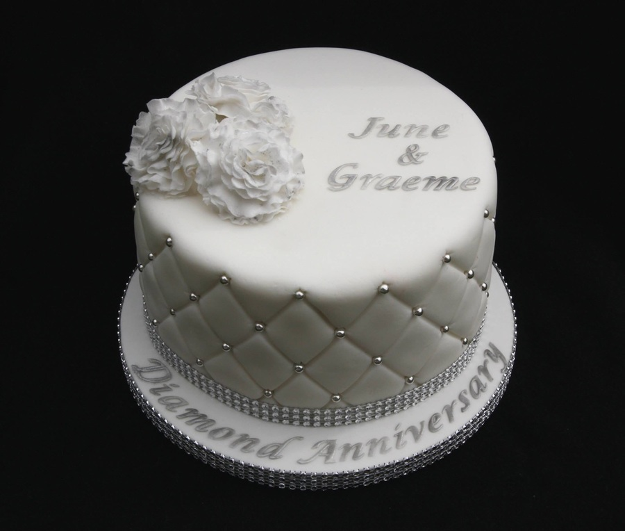 Pictures Of 60th Wedding Anniversary Cakes