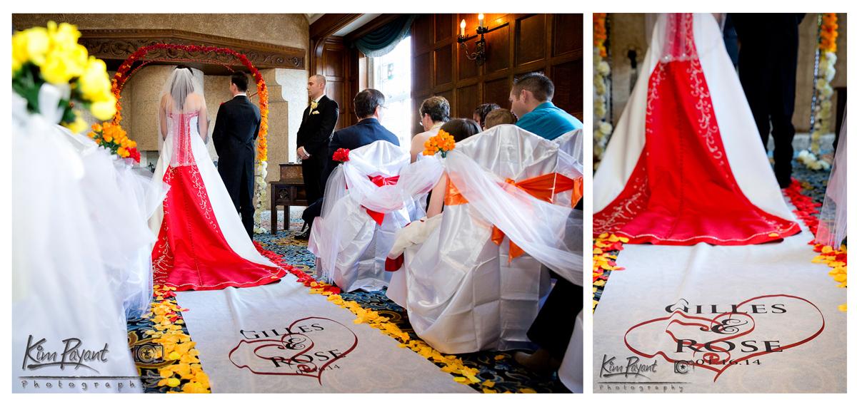 White point fire wedding