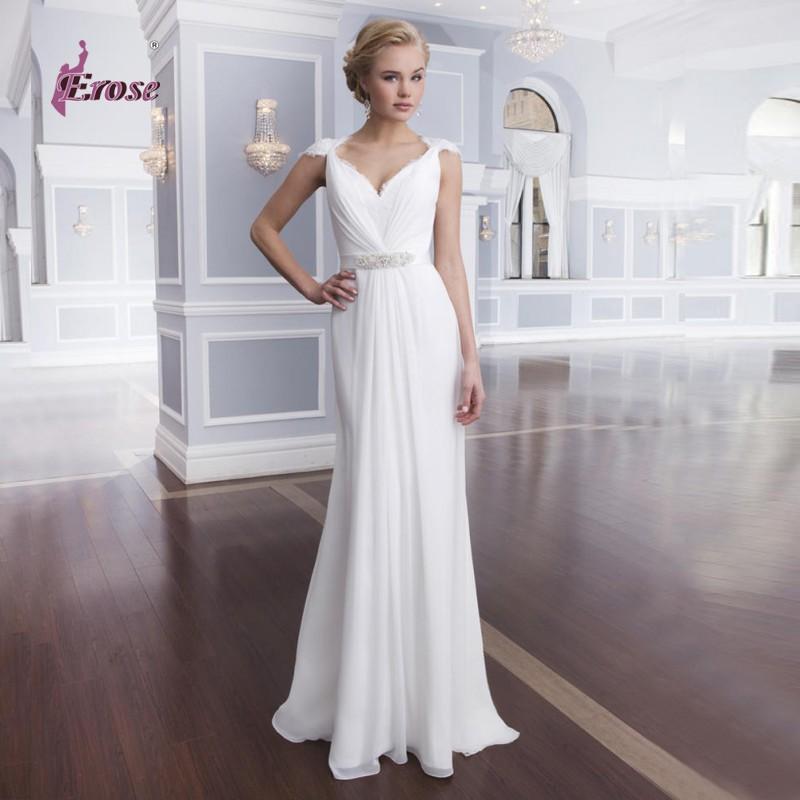 Simple Elegant Wedding Dress With Sleeves Woman And More: Simple But Elegant Wedding Dress