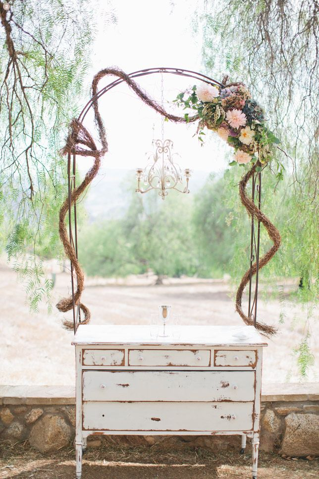 Grapevine Wedding Arch