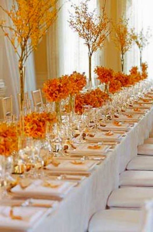 Fall wedding table decor for Autumn wedding decoration