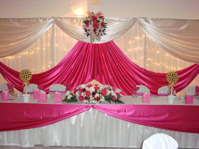 How to decorate a backdrop for a wedding reception junglespirit Gallery