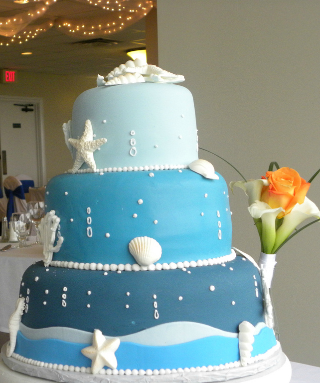 wedding cakes with beach theme. Black Bedroom Furniture Sets. Home Design Ideas