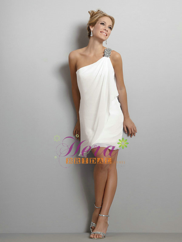 Beach Wedding Short Dresses On With Lace
