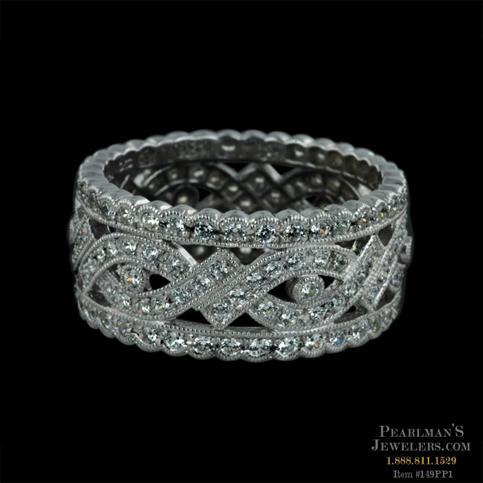 Wide Diamond Wedding Bands