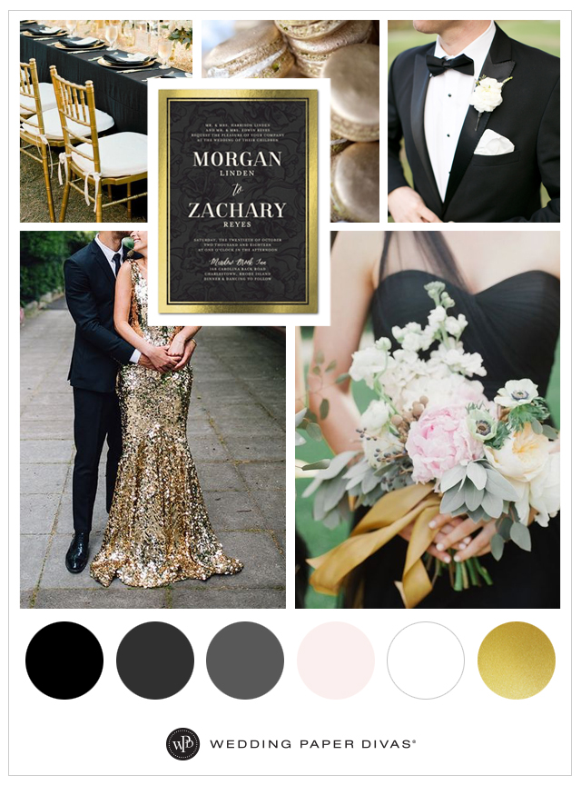 Black Gold Wedding Theme