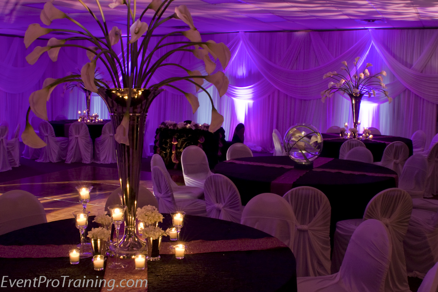 Purple Ideas For Weddings: Black And Purple Wedding Decoration Ideas