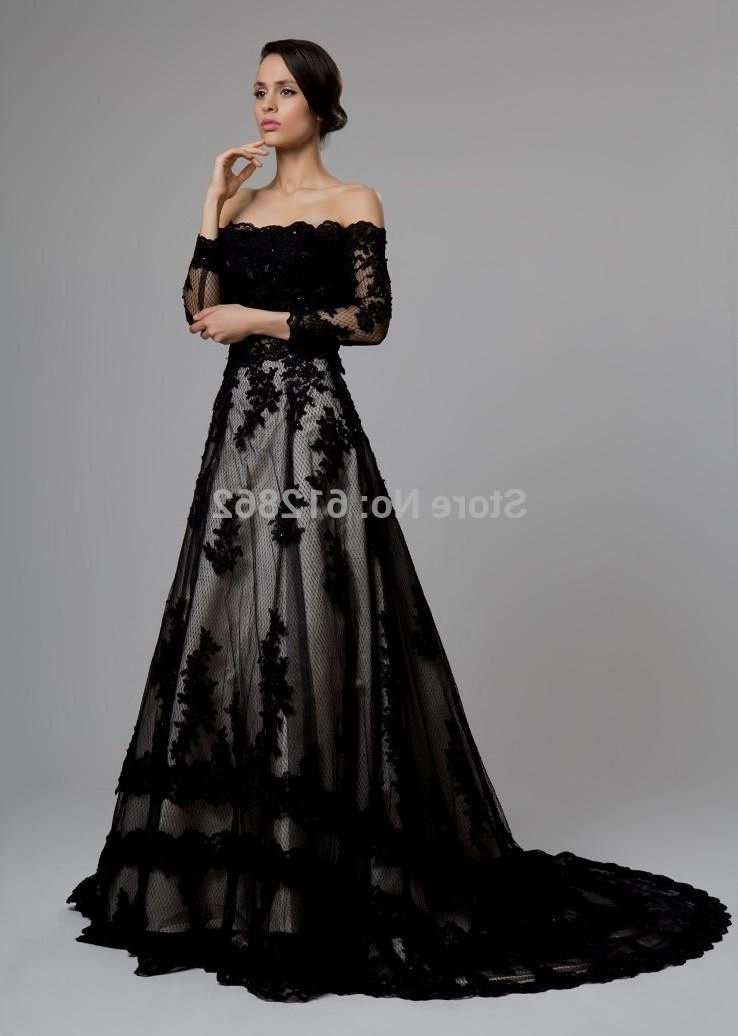 long sleeve black wedding dress. Black Bedroom Furniture Sets. Home Design Ideas