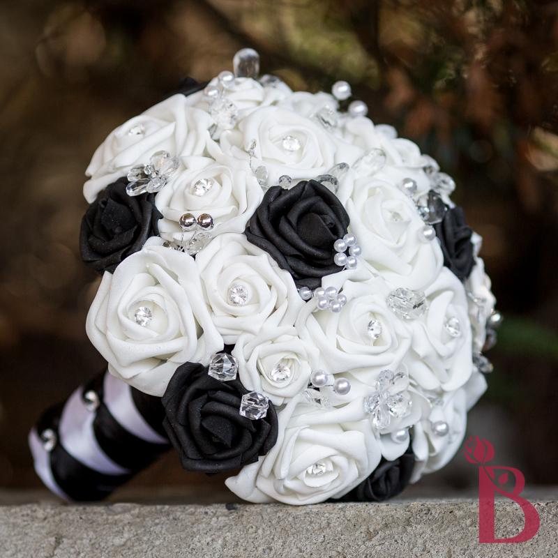 Black White Crystals Bouquet More Colors