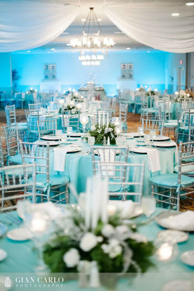 Blue And Silver Decoration Living Room: Teal Blue And Silver Wedding