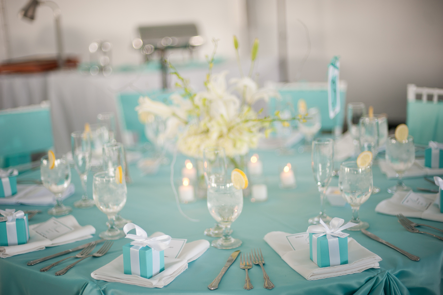 Blue And White Wedding Decorations On With