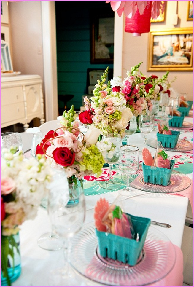 Wedding shower table decorations ideas - Wedding bridal shower ...