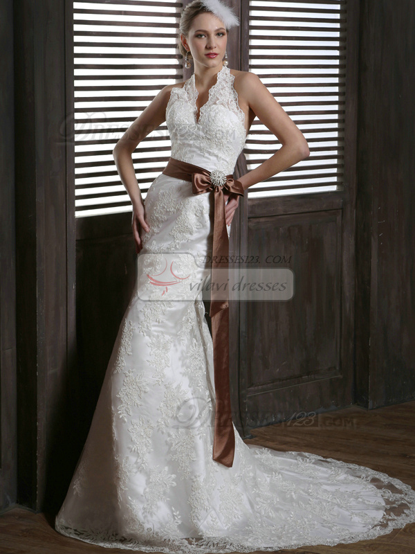 Brown lace wedding dress for Brown lace wedding dress