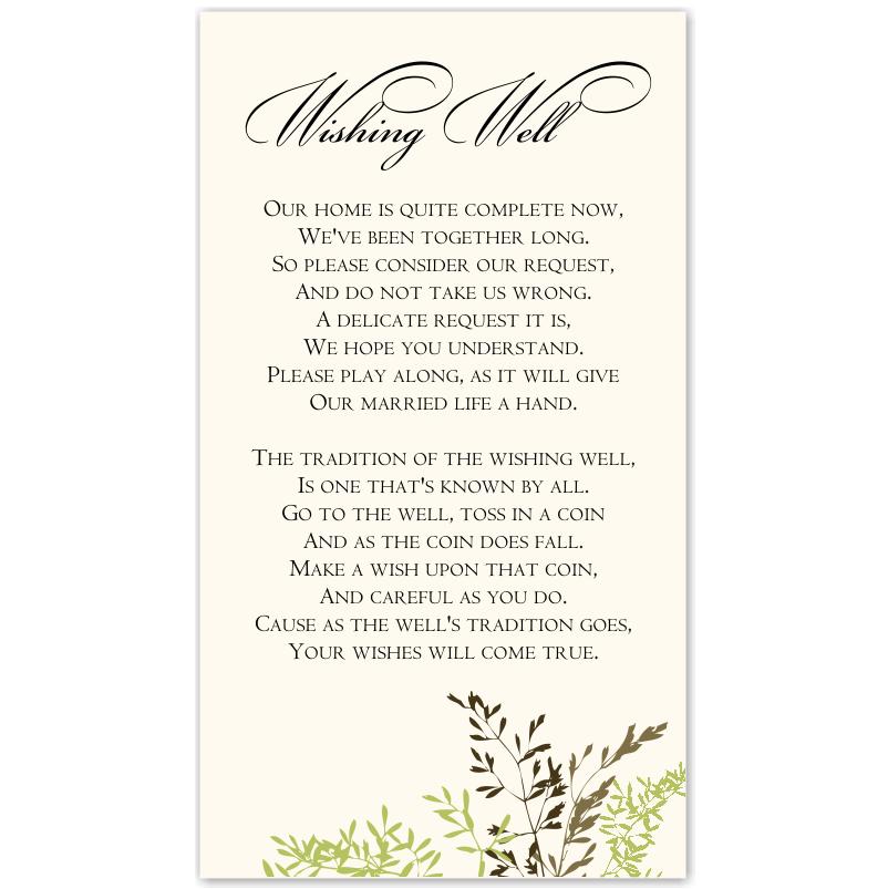 Wedding Wishing Well Wording