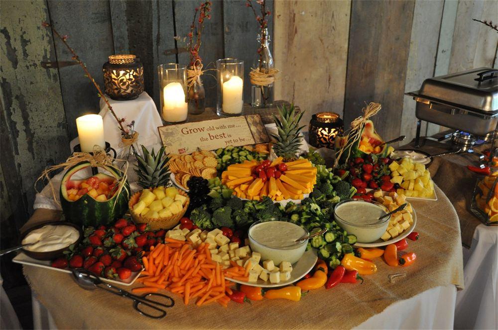 Buffet Reception. Elegant Food Stations At Wedding Receptions Buffet ...
