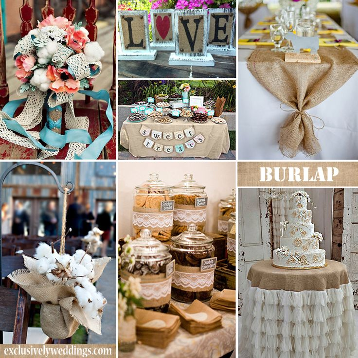 Diy Burlap Wedding Ideas: Wedding Table Decorations With Burlap