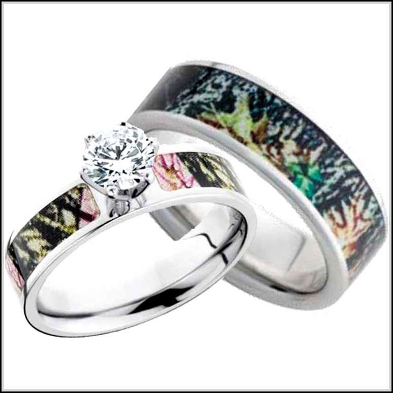 camo wedding rings for him and her - Cheap Wedding Ring Sets For Him And Her