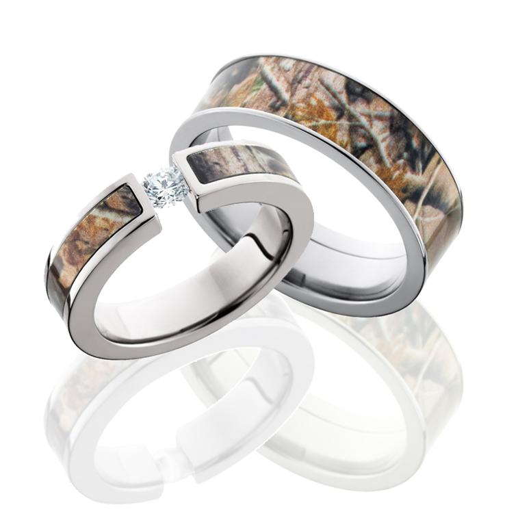 camouflage wedding rings