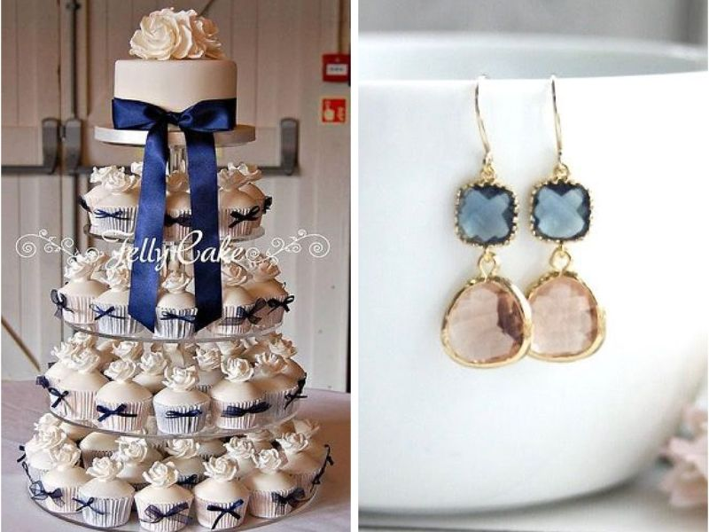 Navy Blue And Champagne Wedding