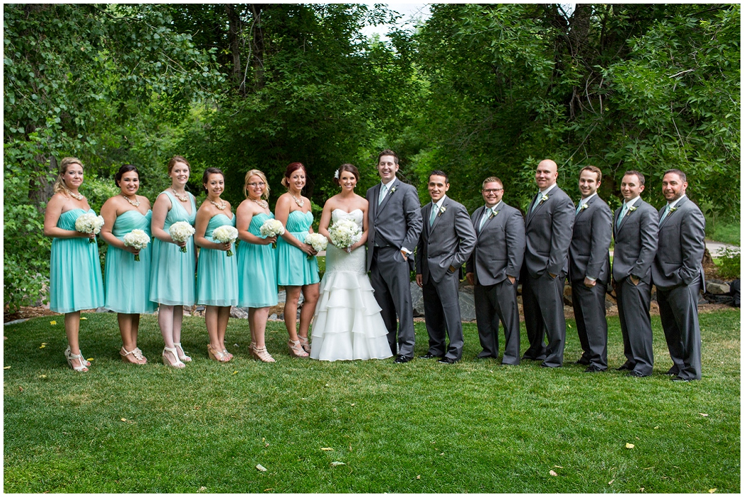 Turquoise And Gray Wedding