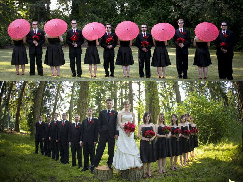 Black And Hot Pink Wedding Ideas