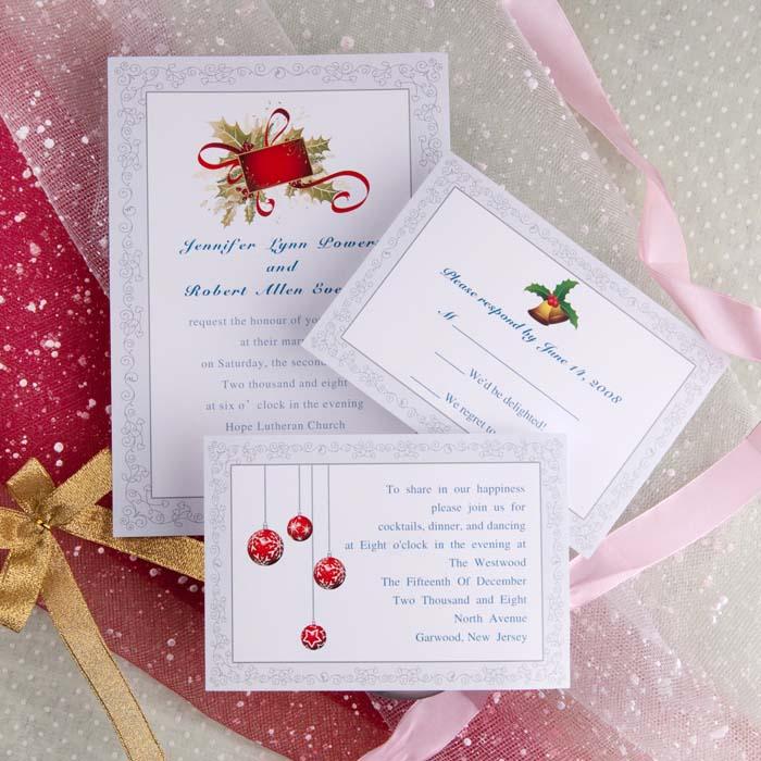 Christmas Wedding Invitations Ideas