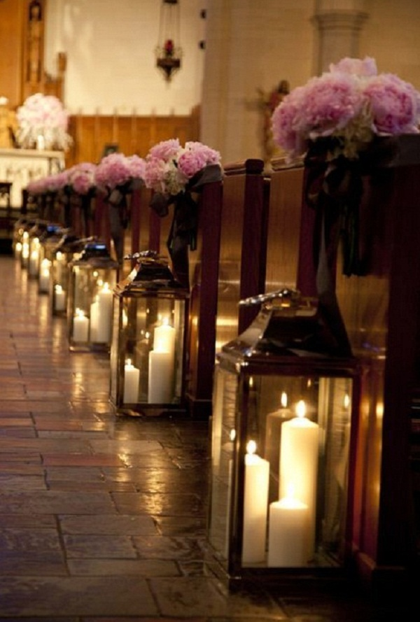 Church Pew Decorations For Wedding