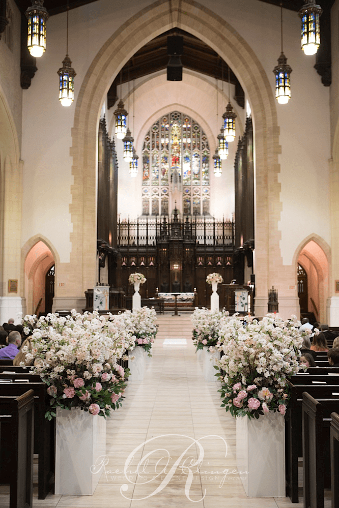 Church Wedding Aisle Decorations On With