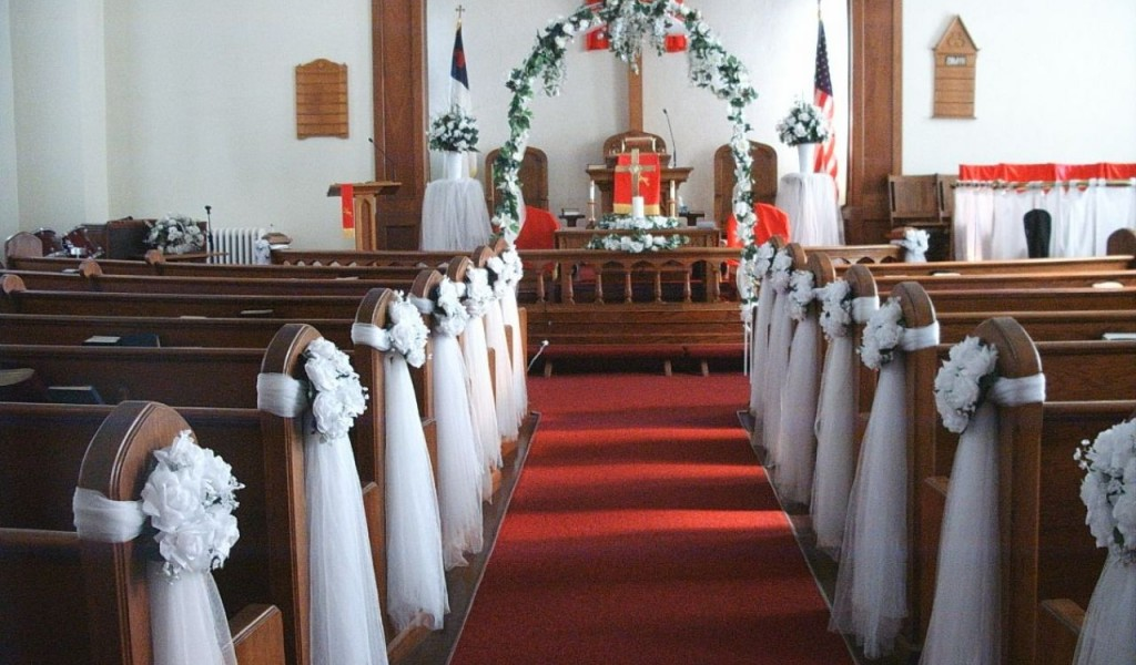 Wedding decorations for the church ceremony junglespirit Gallery