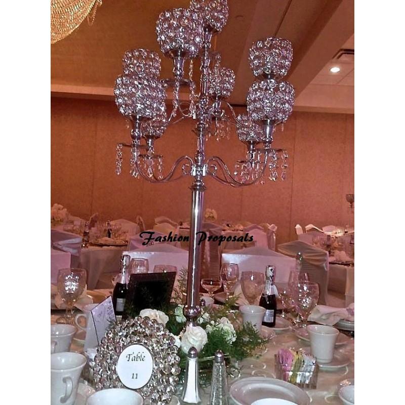 Chandelier wedding centerpieces