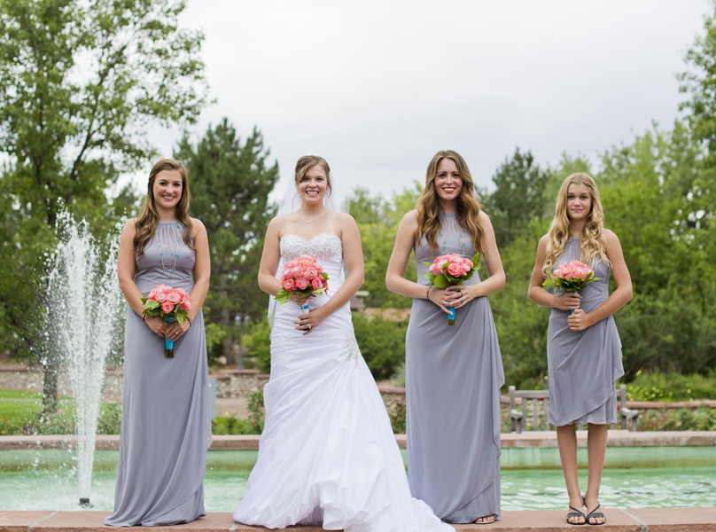 C Turquoise Grey Summer Wedding
