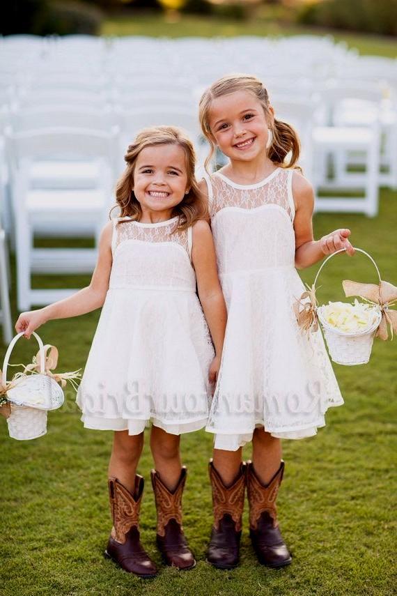 country wedding flower girl dress