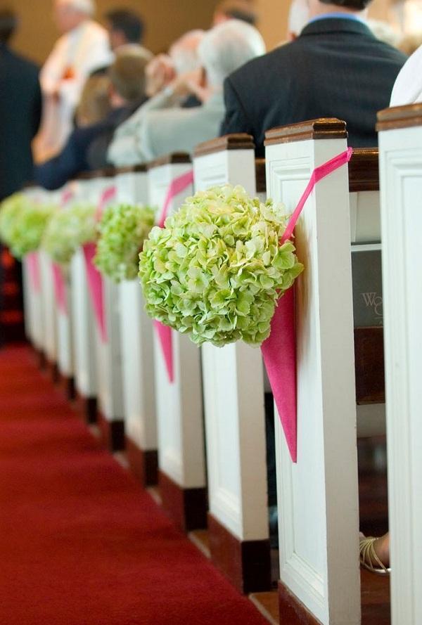 Creative Church Wedding Decorations Pew
