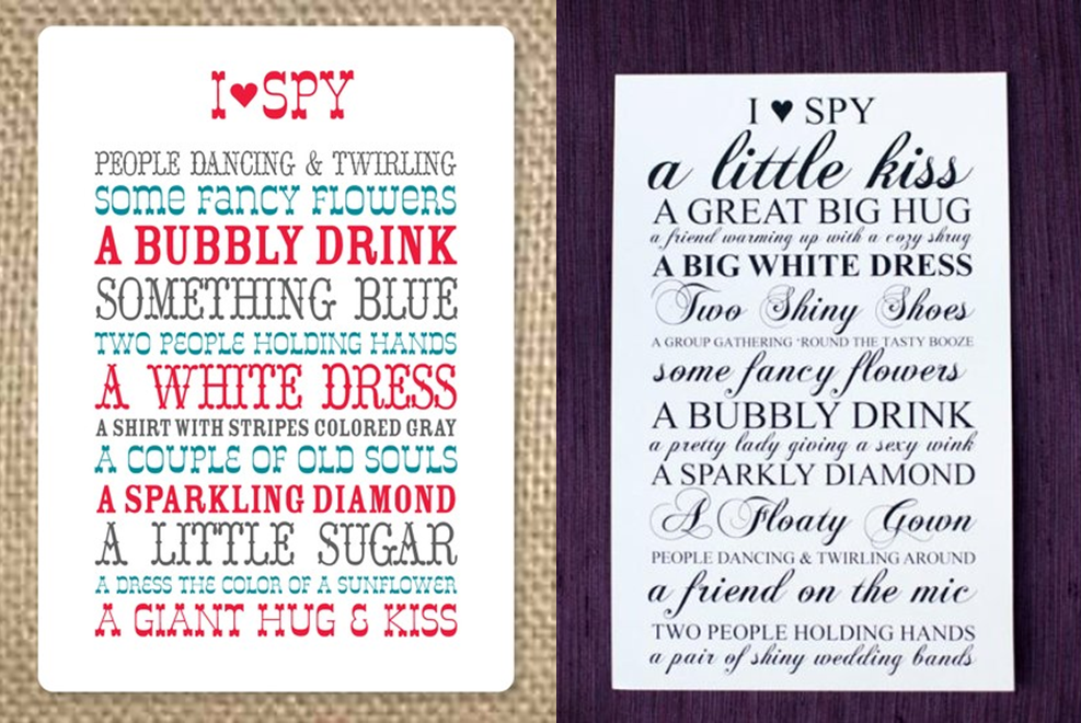 i spy wedding cards wedding tips and inspiration