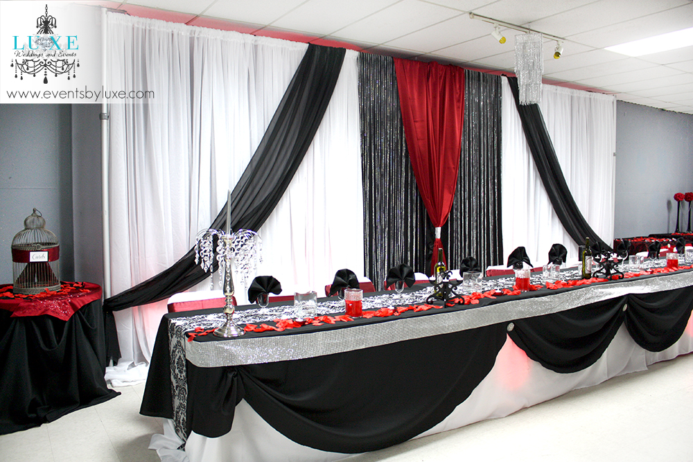 Red Silver And Black Wedding