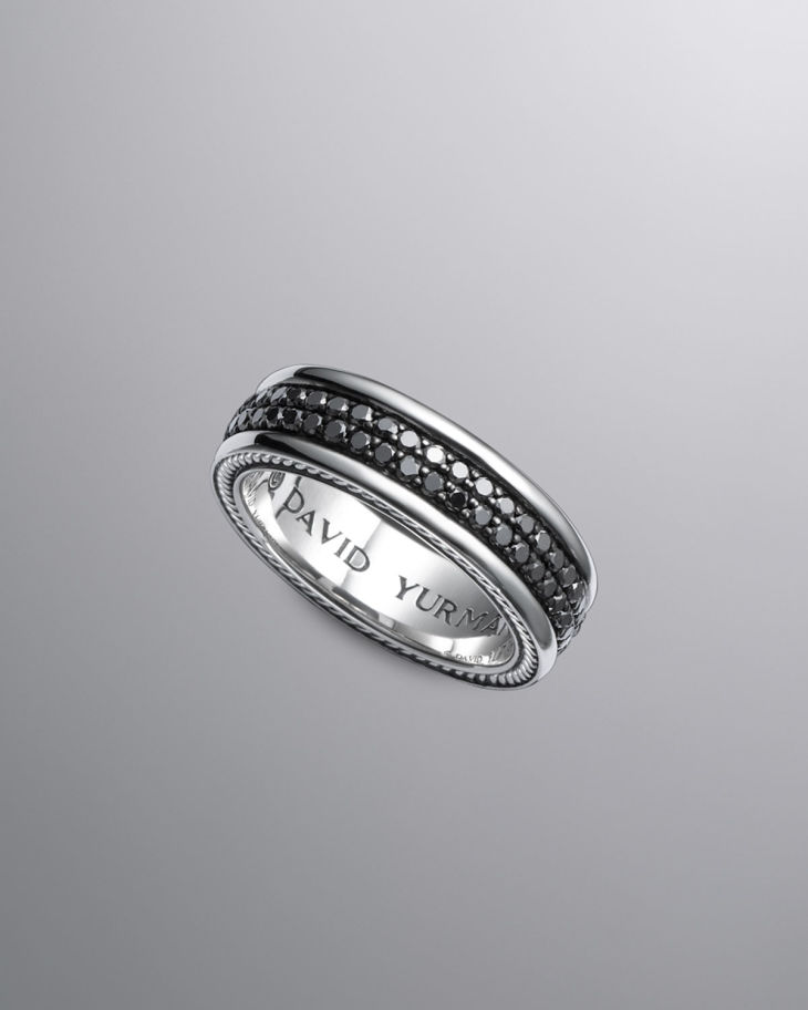 Charmant David Yurman Black Diamond Mens Wedding Ring