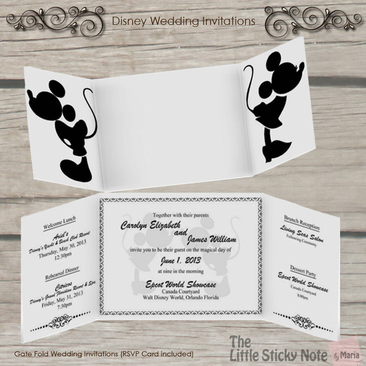 Disney Wedding Invitation: Disney Wedding Invitations