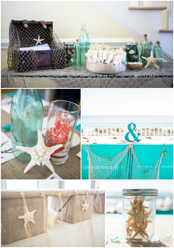 beach wedding decorations diy coral and teal wedding 1575