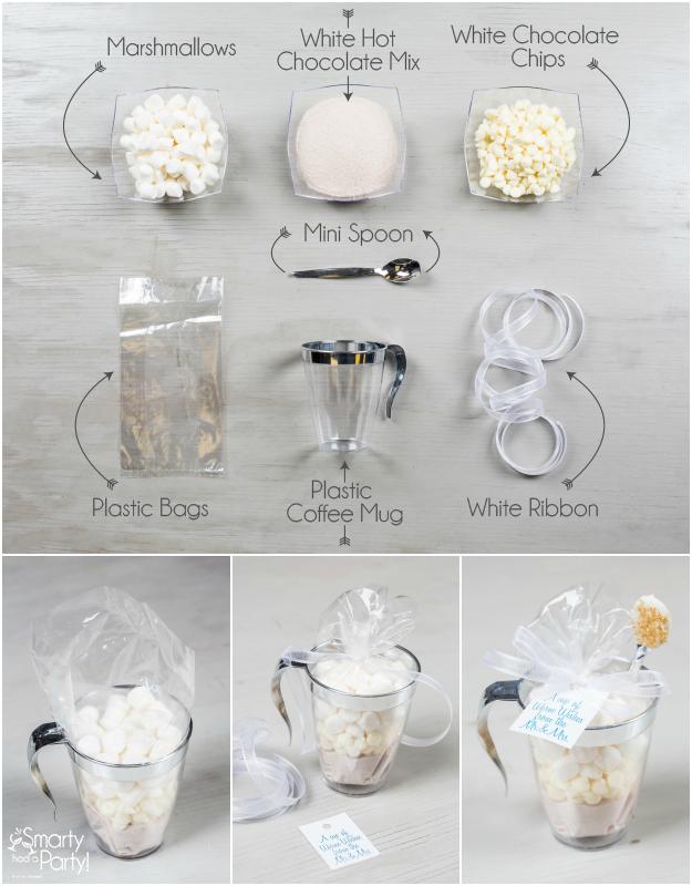 Diy Wedding Favors White Hot Chocolate Kits Emcraft