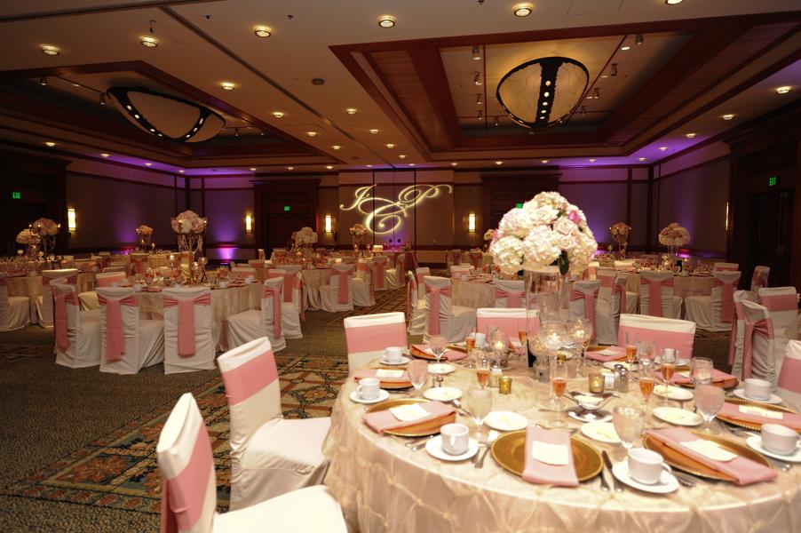 Pink gold wedding elegant pink and gold florida wedding junglespirit Choice Image