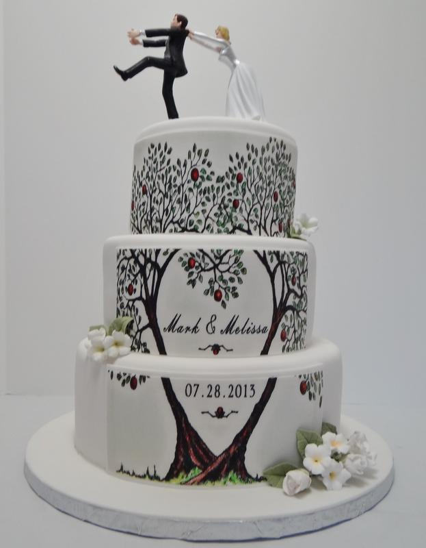 the wedding cake tree pattern wedding cake 20916