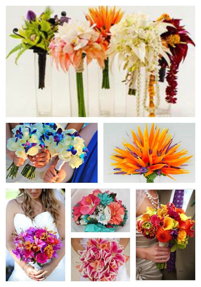 Hawaiian Flower Wedding Bouquets