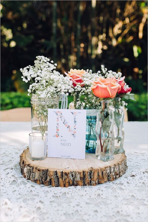 Gallery Rustic Babys Breath And Roses In Lace Covered Mason Jar