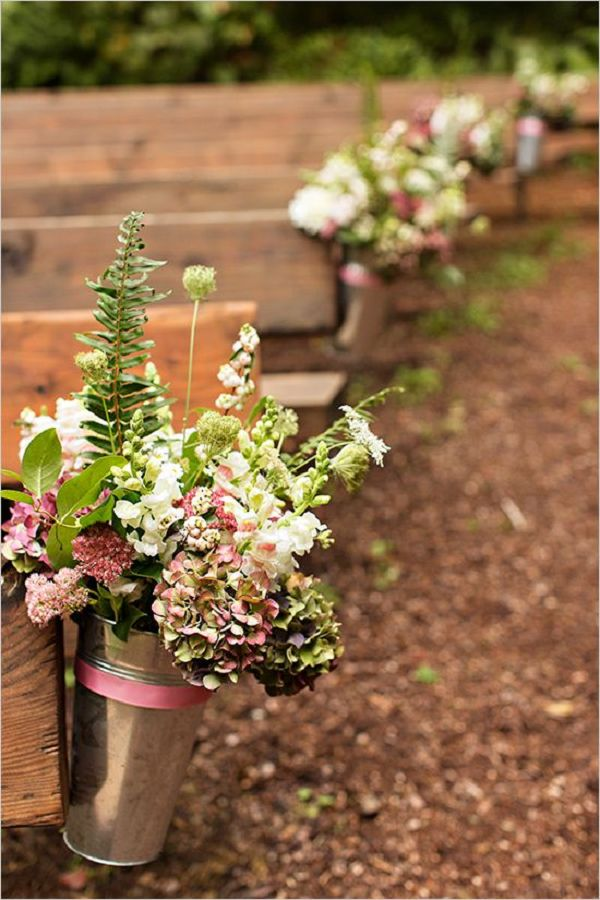 Aisle Flowers For Outdoor Wedding