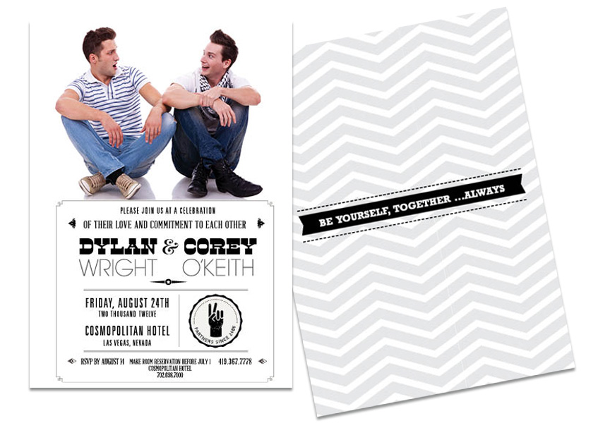 Gay Marriage Wedding Invitations: Gay Wedding Invitations