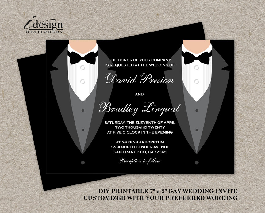 Wedding Invitations Gay Marriage Southernsoulblog Com