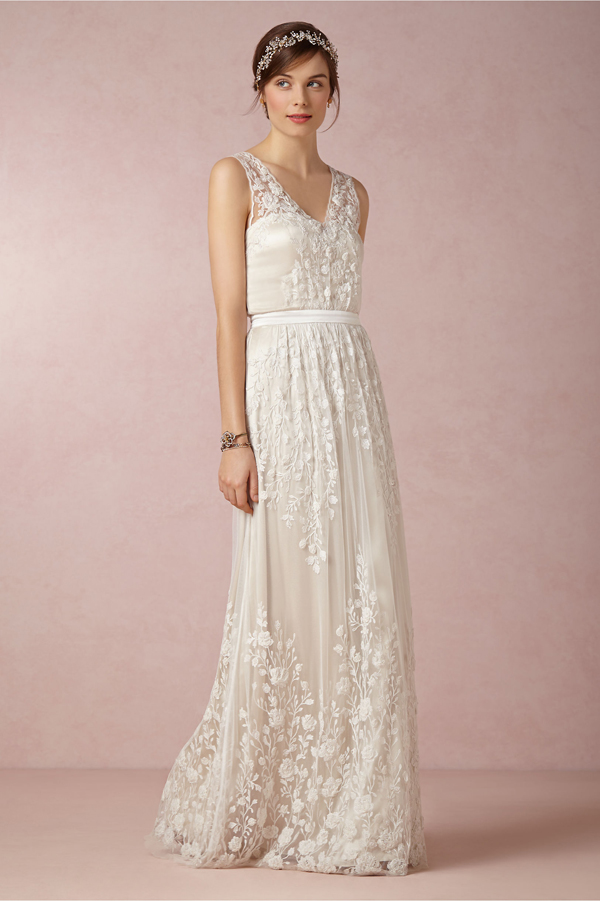 Bohemian style wedding dress get the perfect bohemian bride look with bhldn junglespirit Image collections