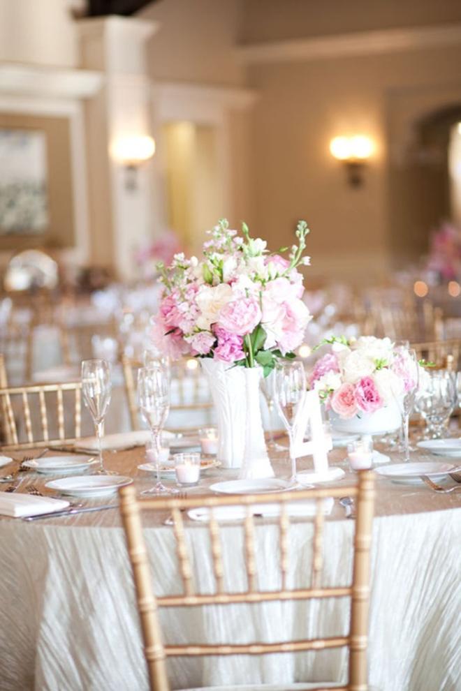 Glass wedding centerpieces