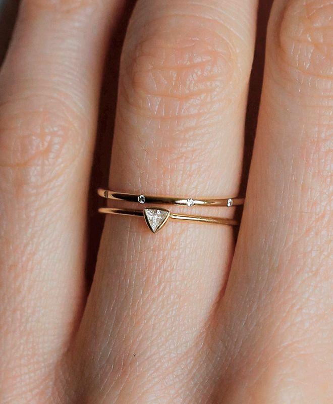 Triangle Wedding Ring